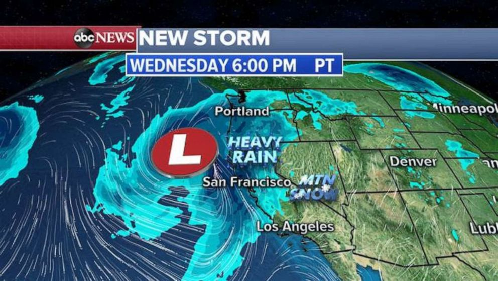PHOTO: The new storm is expected to hit the West Coast Wednesday evening.