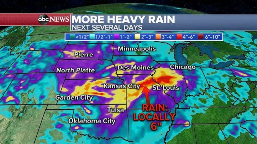 PHOTO: Heavy rain is likely for much of the U.S. over the next few days.