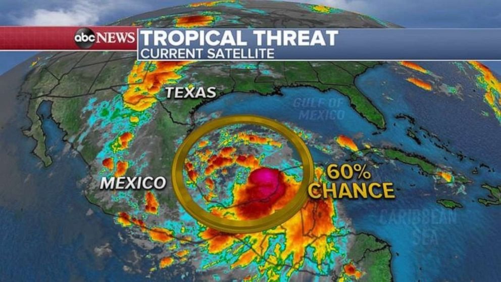 PHOTO: A tropical system is possibly developing in the Gulf of Mexico.