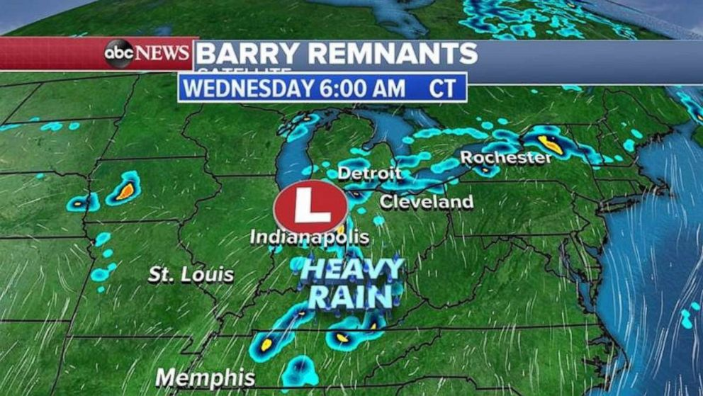 PHOTO: Heavy rain is expected in Tennessee Wednesday morning.
