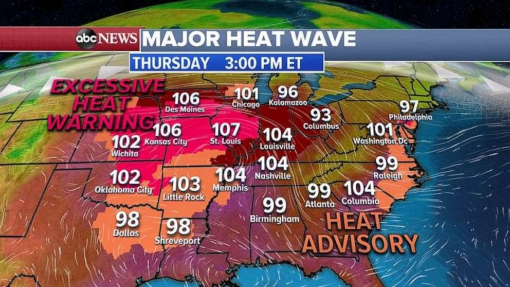 PHOTO: Heat warnings and advisories are likely on Thursday.