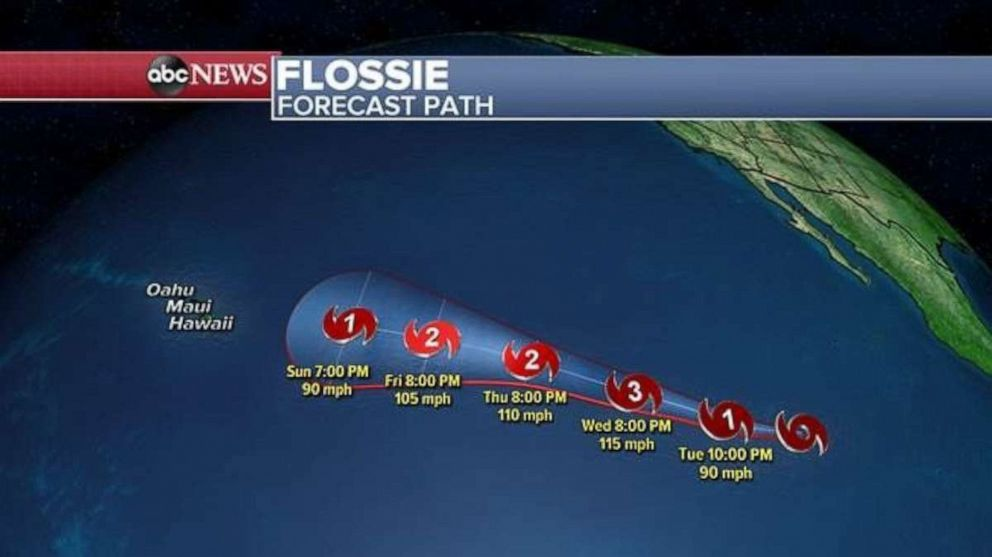PHOTO: This image shows Flossies projected path.