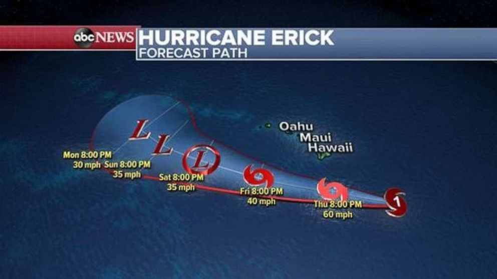 PHOTO: Erick is still forecast to miss Hawaii to the South.