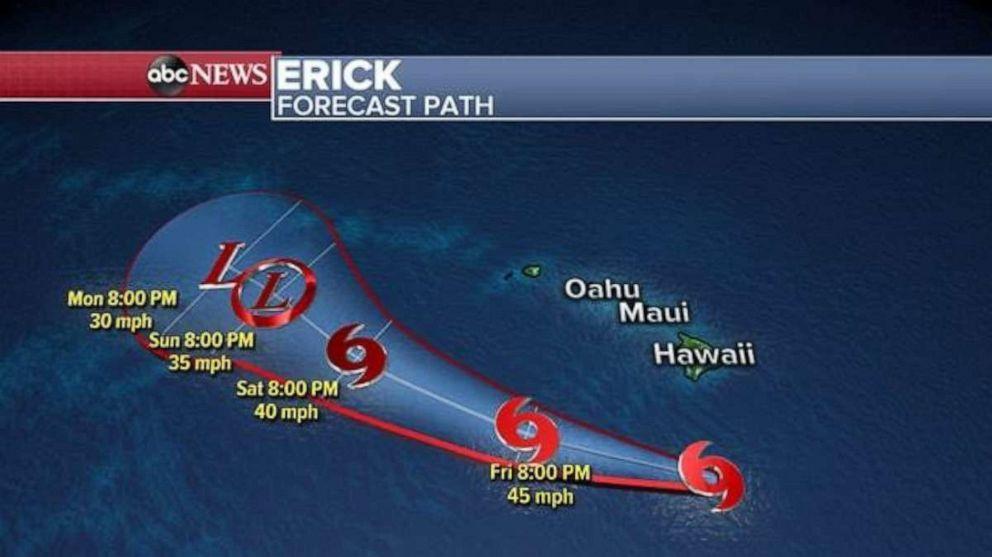 PHOTO: Erick is forecast to pass south of Hawaii.