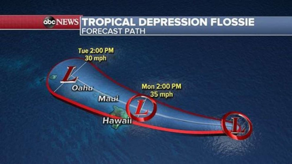 PHOTO: Tropical Depression Flossie could deliver rain to Hawaii on Monday and Tuesday.