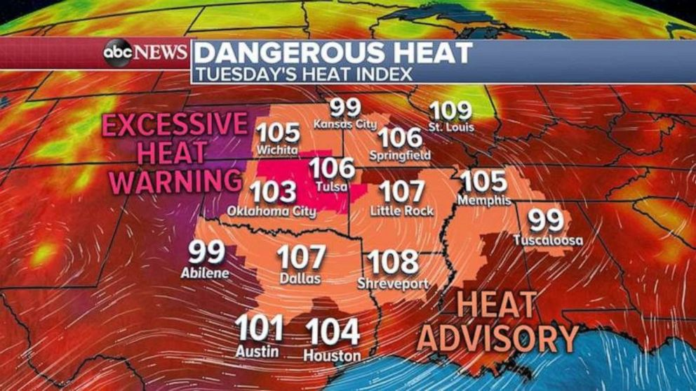 PHOTO: An excessive heat warning has been issued in the Plains.