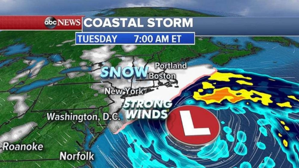 Strong winds are expected Tuesday in New England.