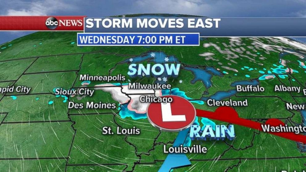 Milwaukee and Chicago are likely to see snow tonight.
