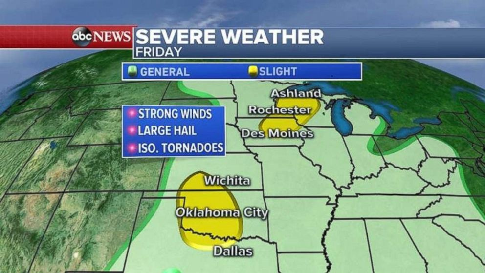 Severe weather is expected again today throughout much of the Midwest.
