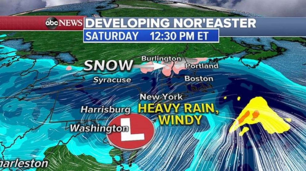 A Noreaster is forming heading into the weekend.
