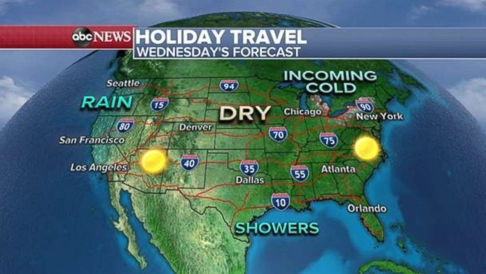 Wednesdays travel forecast looks mild in most parts.