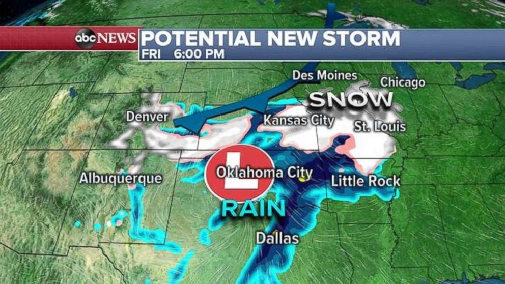 A potential new storm may be forming over the Midwest.