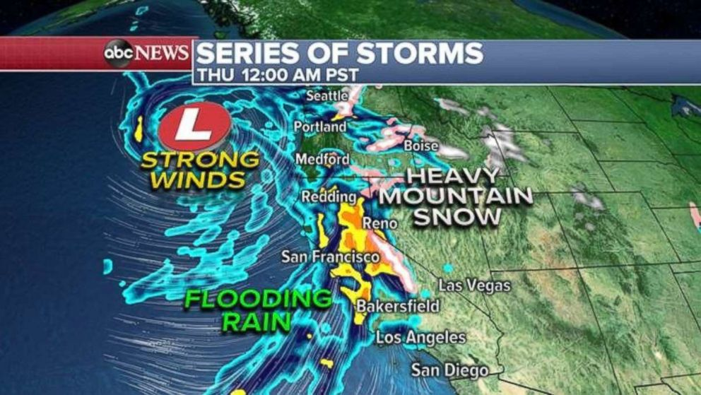 Another storm is heading for the West Coast.