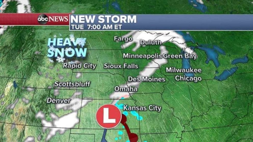 Parts of the upper Midwest are seeing heavy snows this morning.