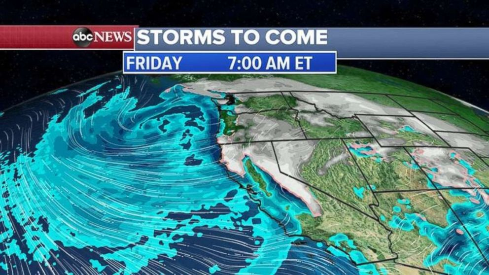 More storms are heading for the West Coast Friday morning.