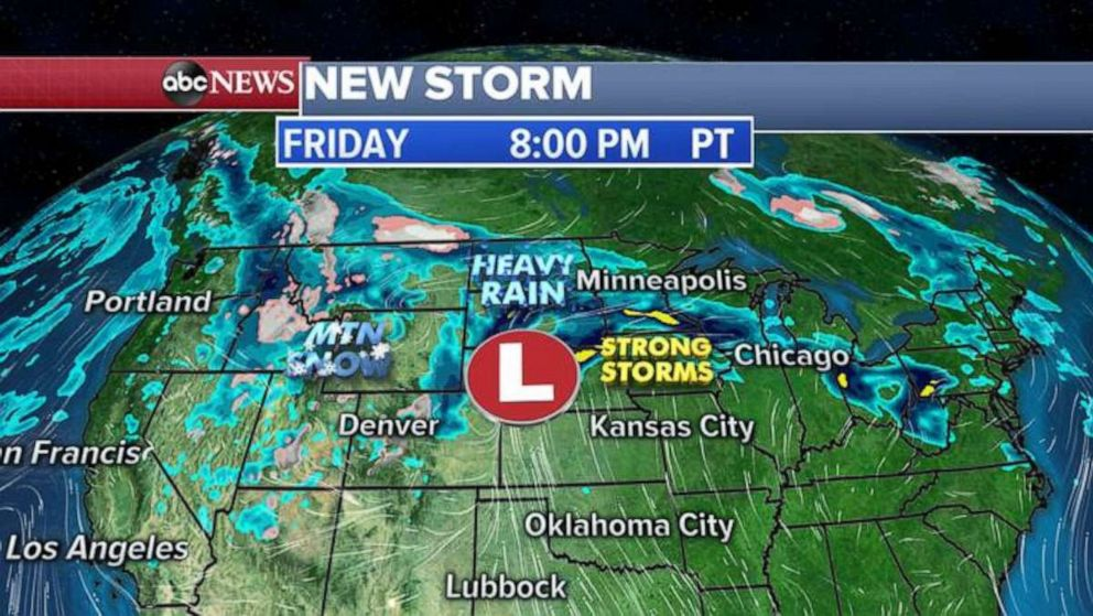 PHOTO: The new storm likely will move toward the Upper Midwest later in the week.