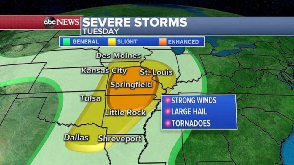 Violent, long-lasting tornadoes threaten Oklahoma, Texas | GMA