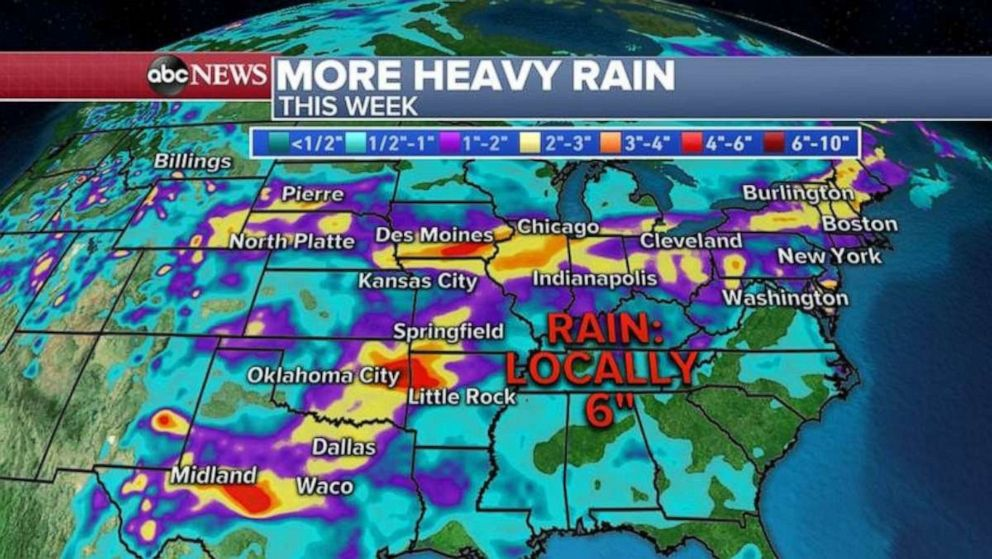 PHOTO: More heavy rain is expected this week.