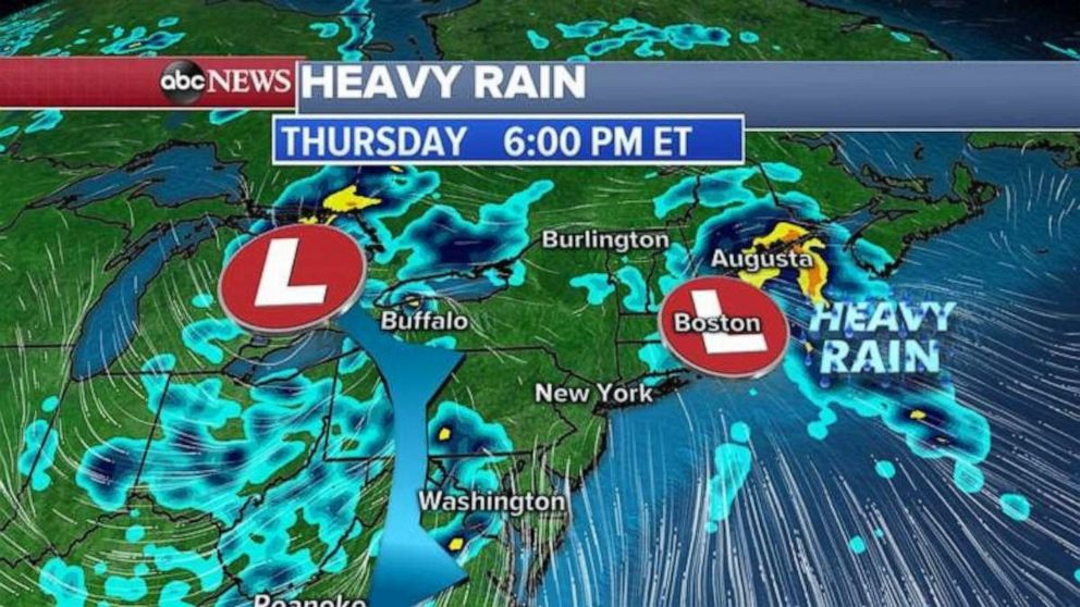 PHOTO: Heavy rain is expected on Thursday.
