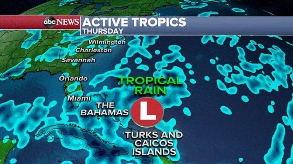 PHOTO: Tropical rain is expected on Thursday.
