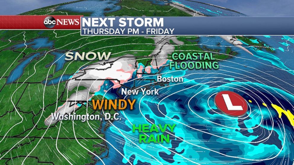 A new storm may batter parts of the Northeast later in the week.
