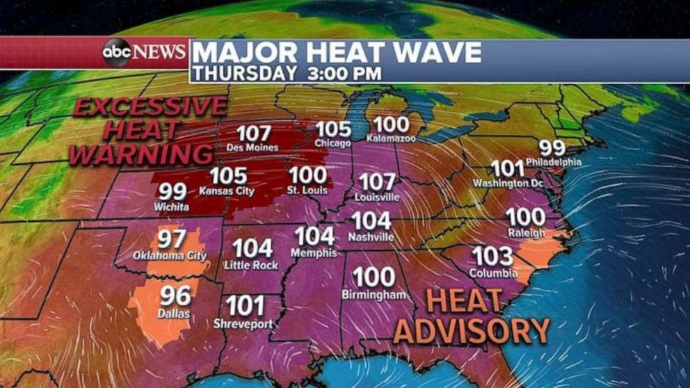 PHOTO: A major heat wave is forecast for later in the week.