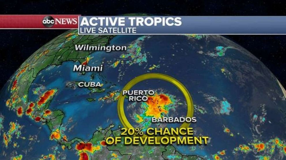 PHOTO: Theres a 20% chance of a tropical development forming in the Atlantic.