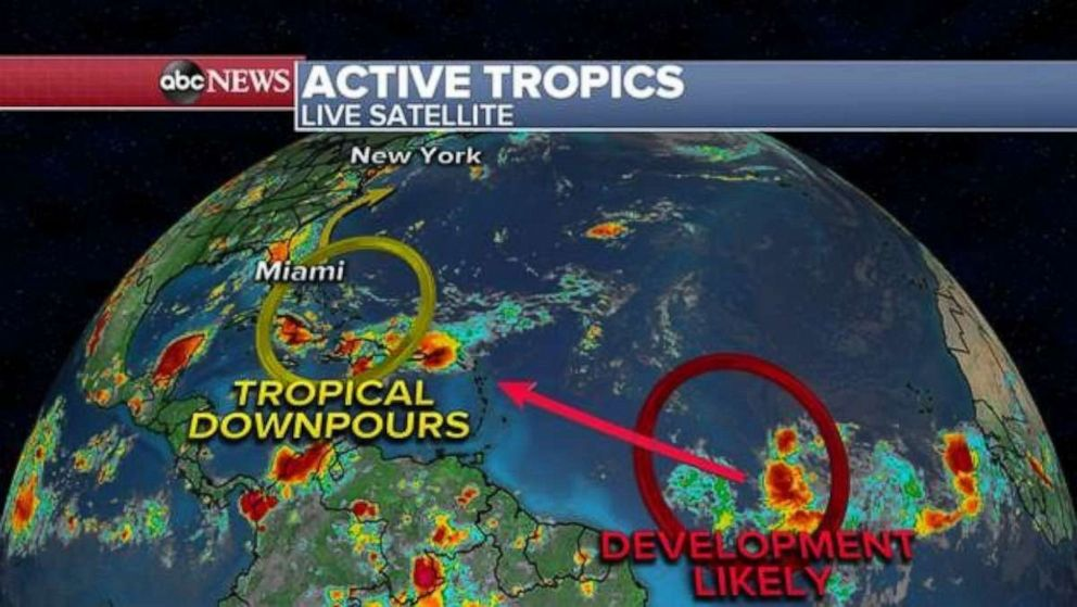 PHOTO: Activity in the Atlantic Ocean could lead to more precipitation in the Southeast.