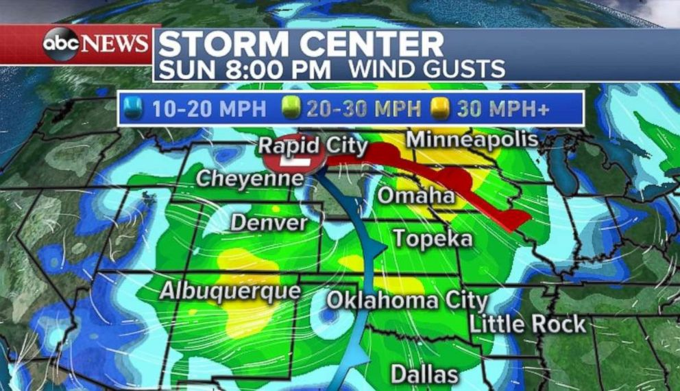 Strong winds are expected tonight in much of the U.S.