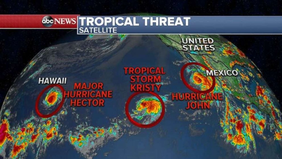 None of the three systems in the Pacific Ocean appear to be threatening landfall.