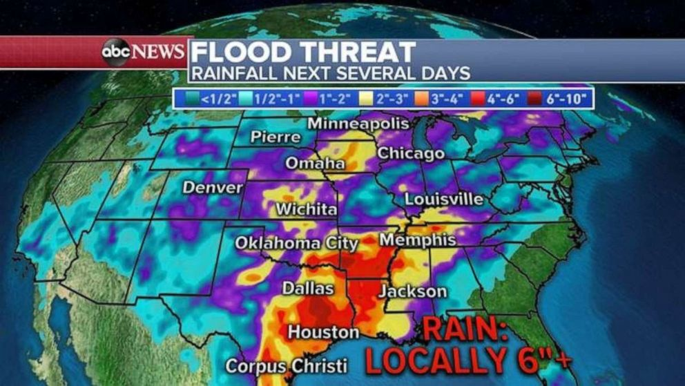 More than 40 million Americans at risk of severe weather