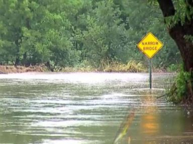 Flash flooding in Kansas as heavy rains travel East