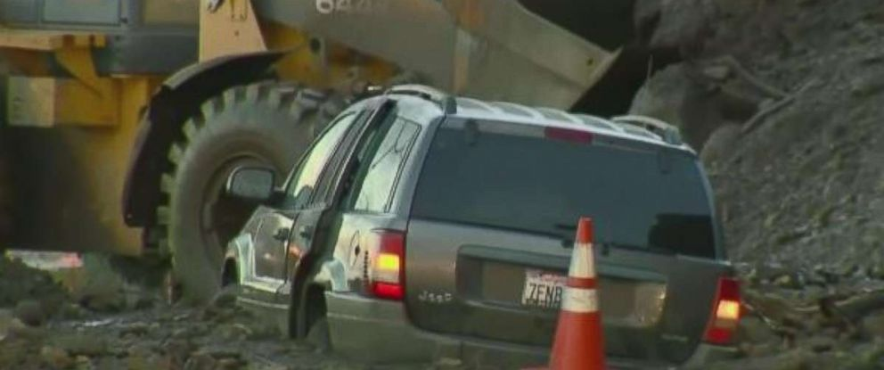 A strong Pacific storm created mudslides in parts of California.