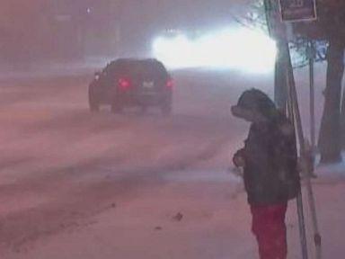 Lake-effect snow, Arctic air blast Midwest, Northeast