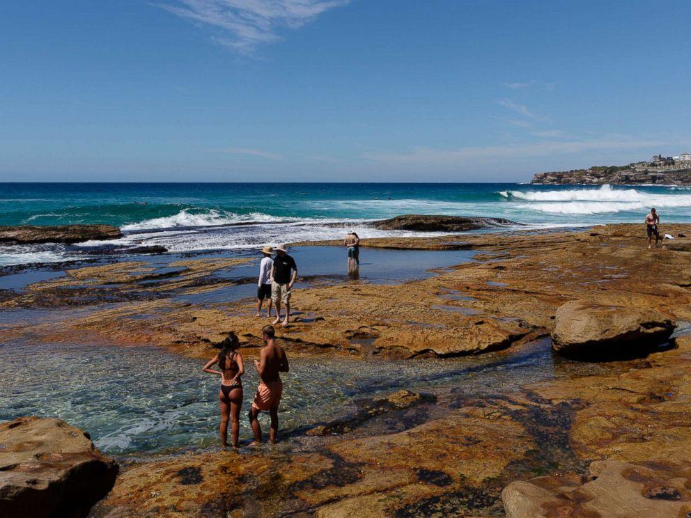 PHOTO: Sydneysiders cool off at Tamarama Beach on Feb. 28, 2018 in Sydney, Australia.