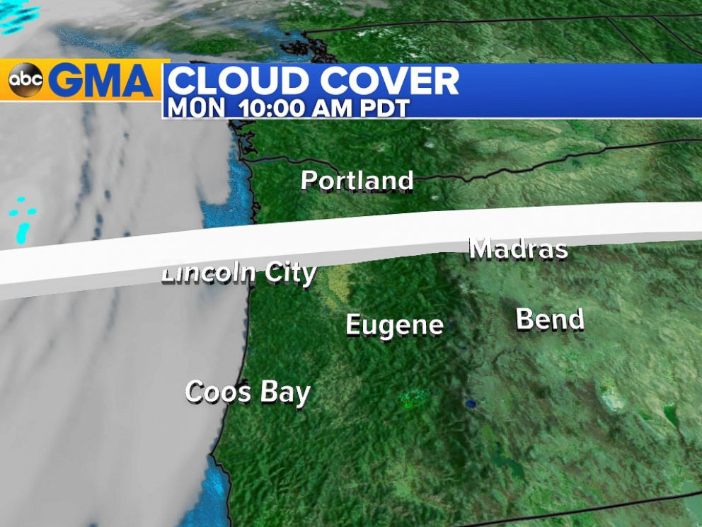 PHOTO: A layer of clouds and fog along the coast of Oregon is expected to clear out in time for the total solar eclipse, Aug. 21, 2017.