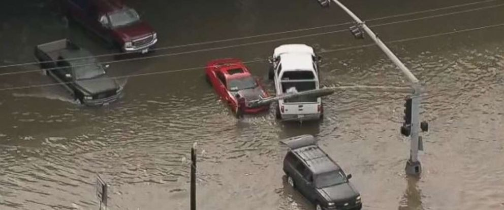 Parts of Houston suffered massive flooding on Wednesday.