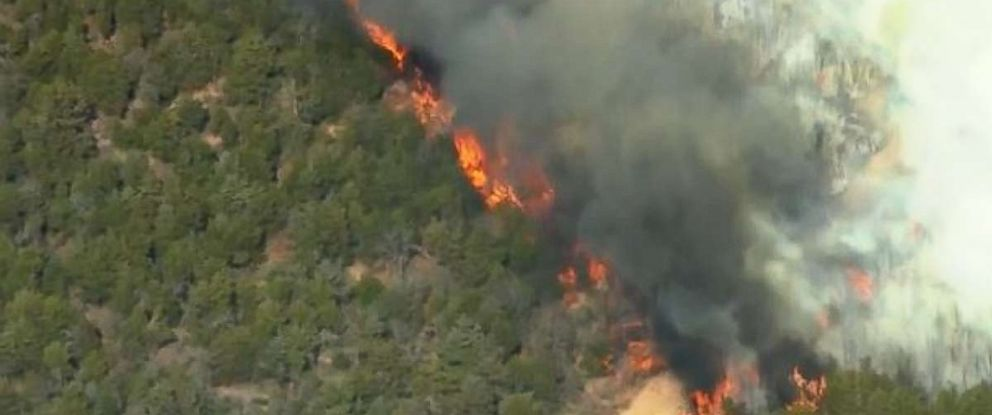Wildfires tore through parts of Oklahoma on Tuesday.