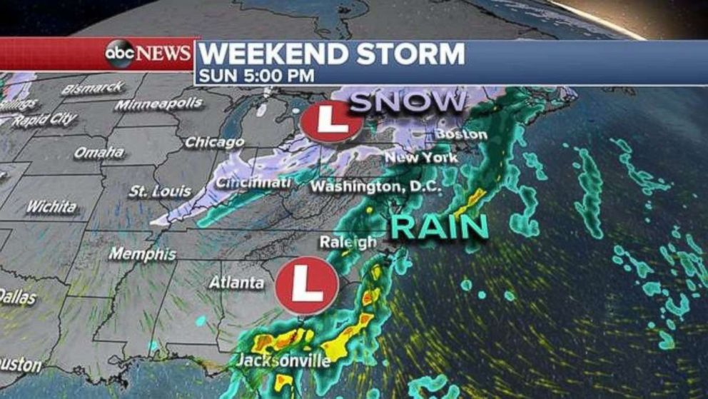 po the weekend storm begins in the plains and midwest on saay before moving east