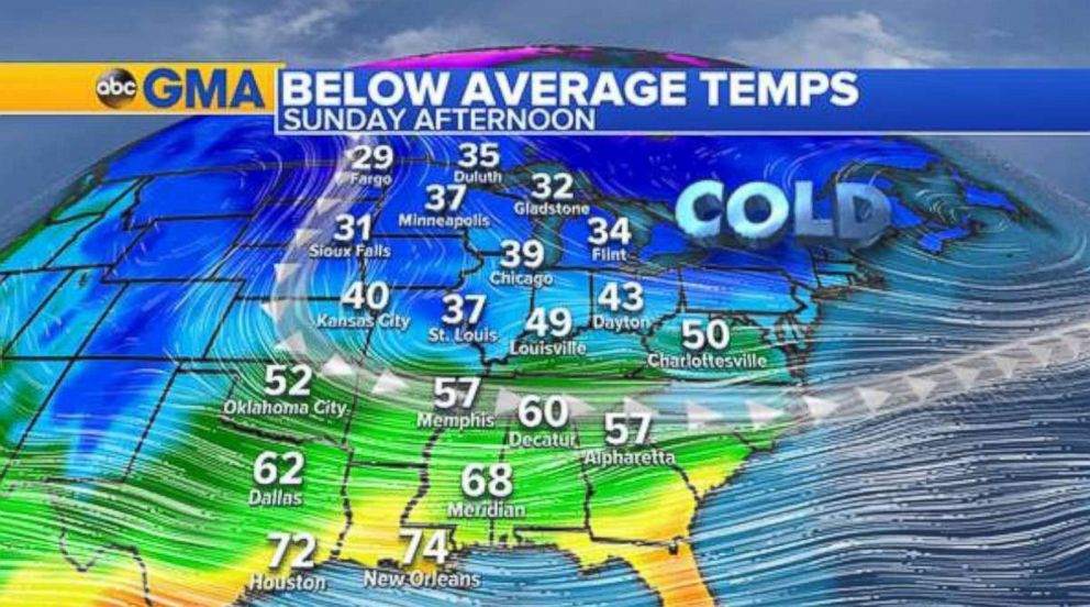 PHOTO: A cold upper trough will be keeping our temperatures below average for the Great Lakes region through New England.