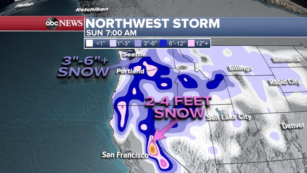 PHOTO: Northwest Storm weather map.