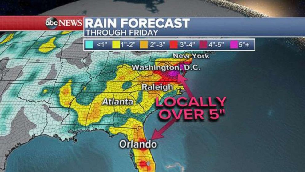 PHOTO: Rain forecast.