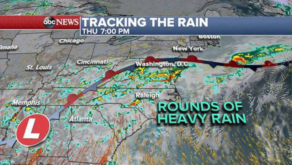 PHOTO: Tracking the rain, Thursday.