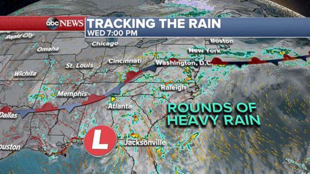 PHOTO: Tracking the rain, Wednesday.
