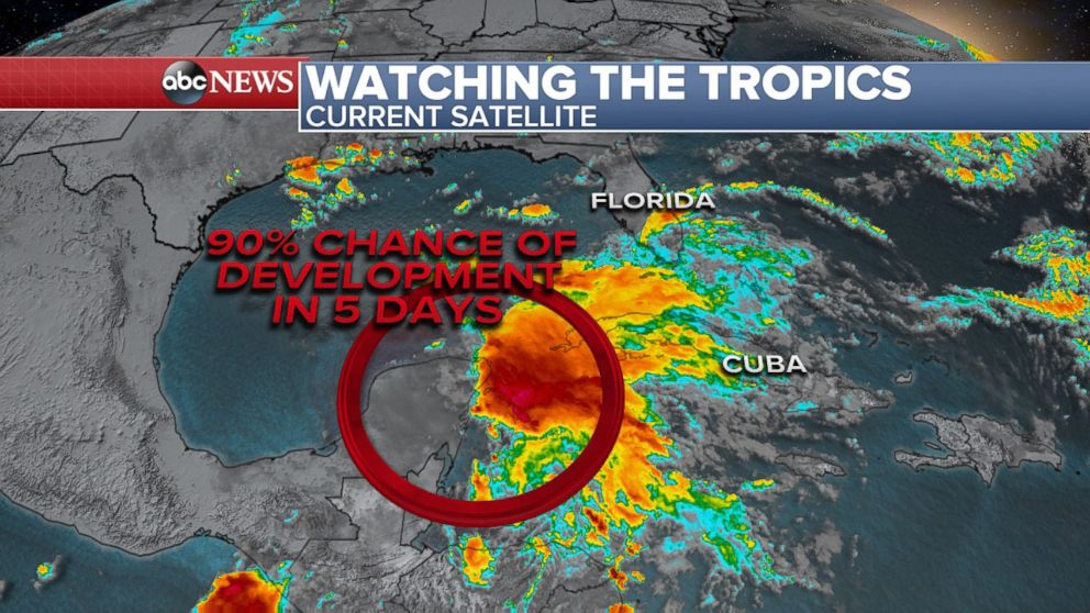 PHOTO: Theres a 90% chance for tropical development.