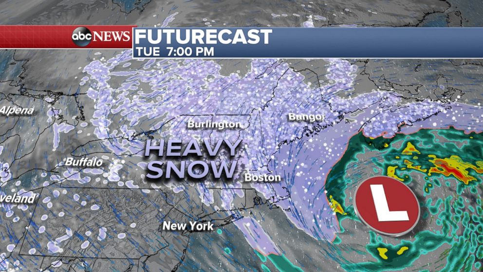PHOTO: Futurecast, Tuesday at 7PM.
