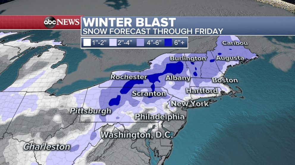 PHOTO: Winter Blast! Snow forecast through Friday.