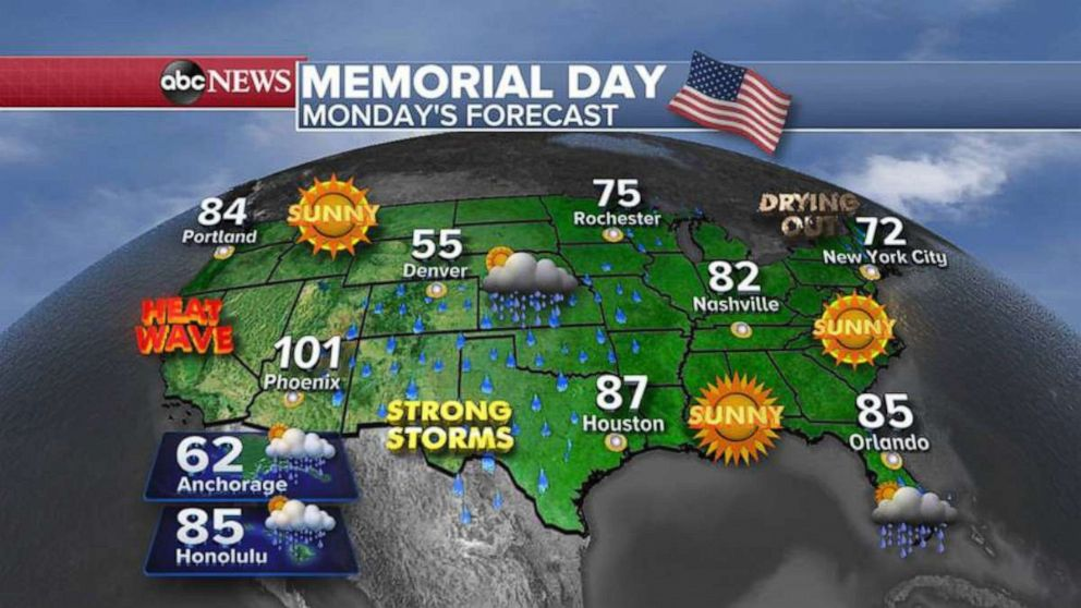 Record-Cold Temperatures and Heavy Rain Expected to Grip Northeast During Memorial Day Weekend