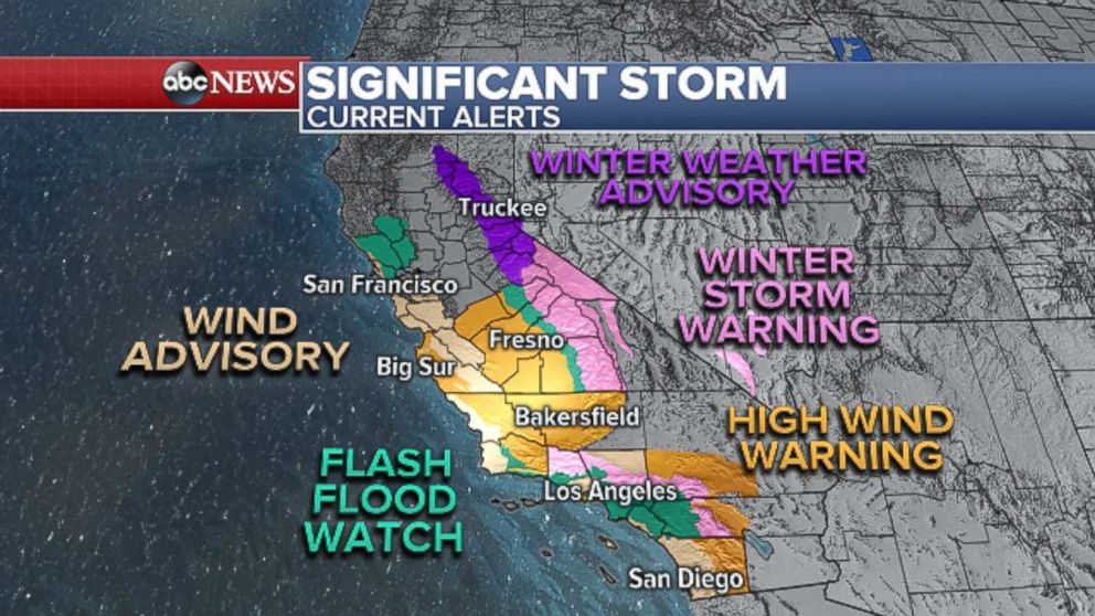 PHOTO: Significant storm current alerts.