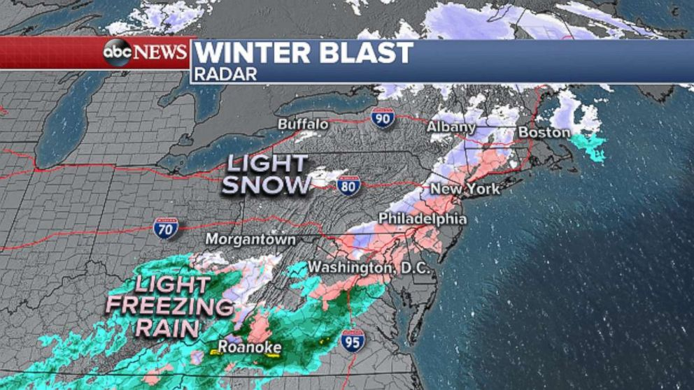 PHOTO: Winter blast radar.
